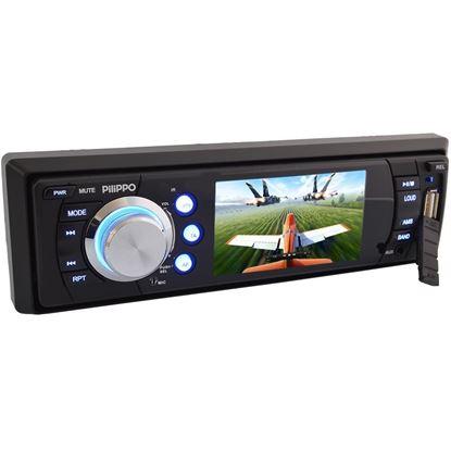 Pilippo PO-720 3 inç Bluetooth DVD USB Oto Teyp resmi